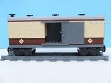 New Custom Built Box Car Train Built W/ New Lego Bricks / Emerald Night 10194