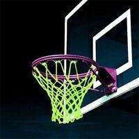 Glowing Basketball Net Dark Hoop Shoot Training Fluorescent Luminous Sports Mesh