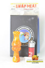 Buck Gardner Calls Swap Meat Orange Pearl/White Swirl Acrylic Interchangeable Re