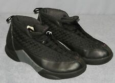 Boys Original 1999 Air Jordan 15 XV Stealth Shoes Size 6 Y Black Gray 134090