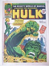 MIGHTY WORLD OF MARVEL WEEKLY ISSUE # 57.  NOV.3rd 1973. VERY HIGH GRADE
