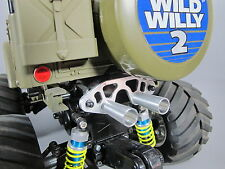 Aluminum Muffler Battery Stopper Holder Tamiya 1/10 Wild Willy WR-02 VW Suzuki