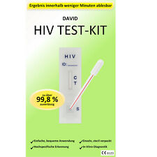 1 x David HIV Testkit 1/2 Schnelltest test kit