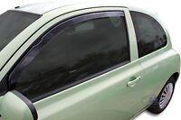 Front wind deflectors 2pc set TINTED HEKO For Nissan Micra K12 3 Door 2002-2010