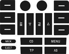 Set der Aufkleber, zum der Knöpfe auf Ihrem VW Golf MK5 / Passat CD Spieler zu r