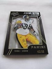 2015 Black Gold FB #064 Jerome Bettis Pittsburgh Steelers WHITE GOLD #/99!!!