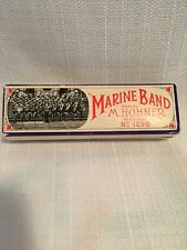 Vintage M. Hohner Marine Band Harmonica Key C Germany No. 1896 w/ Instructions