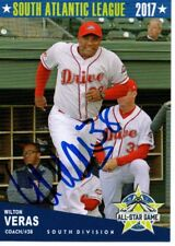 Wilton Veras 2017 Greenville Drive SAL All Star Game Signed Card