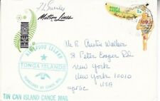 1971 Tonga #223,#229 on cover Tin Can Canoe Mail SS Mariposa to US; related   *d