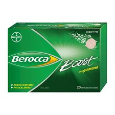 BEROCCA BOOST 20 EFFERVESCENT TABLETS WITH GUARANA SUGAR FREE ENERGY SUPPLEMENT
