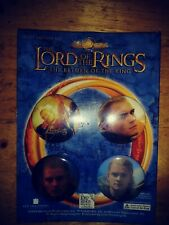 New Line Cinema Legolas Pins Buttons set of 4 Lord of the Rings
