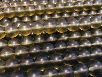"""8mm - Smokey Matte Quartz (Reconstituted) Round Beads 15.5"""" Strand UK EBAYER"""