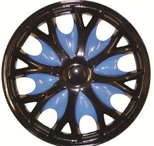 Citroen Xsara Picasso 15 Inch Black Blue Wheel Trims (1999-2016)