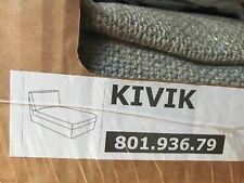 IKEA KIVIK Chaise Longue Cover Teno Light Gray Slipcover Grey Tenö 801.936.79