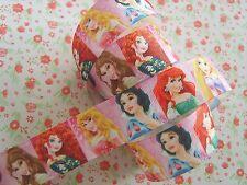 1 M X Princesas De Disney Estampado de Cinta de Grogrén Craft Cabello Moño Pastel 25 mm
