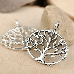 10pc Charms Tree Of Life Pendant Beads Crafts Tibetan Silver Accessories S682T