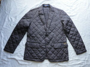 Ralph Lauren Polo Quilted Blazer Jacket with Suede Leather Elbow Patches NWT
