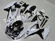 For GSXR600/750 2008-2010 ABS Injection Mold Bodywork Fairing Kit White Black