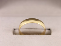 Wedding Band Ring 18ct Gold D Shaped Size P 750 1.9g Cq100