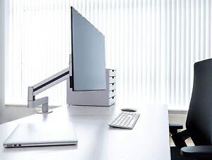 """Durable 508323 Monitor desk mount, flexible arm 360 degree rotatable, for VESA"