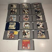 16 GAME LOT Nintendo 64 Sports Football Baseball Basketball NASCAR Racing Fun