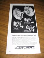 1961 Print Ad True Temper Ocean City Fishing Reels 3 Models Shown