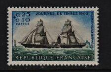 France Postage Stamps 1965 Stamp Day Issue MNH UM (1v)