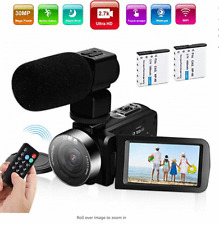 Video Camera Camcorder,Ultra HD 2.7K Vlogging Camera 60FPS 30MP 16X Digital Zoom