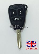 For Chrysler Jeep Dodge  3 Button Remote Key Case with uncut blade with LOGO