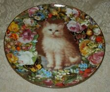 Danbury Mint 1995 Posing Pretty Plate Victoria Howard Victorian Cats Kitten