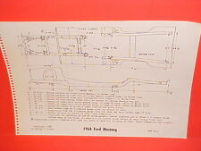 1968 FORD MUSTANG GT CONVERTIBLE HARDTOP 2+2 FASTBACK FRAME DIMENSION CHART