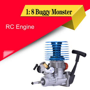 1: 8 Buggy Monster Truggy Nitro 28 Rear Exhaust Engine Pull Starter For RC Car