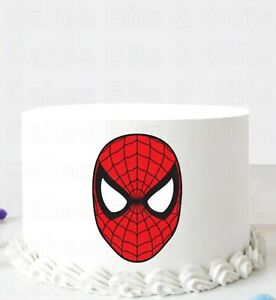 SPIDERMAN FACE Edible Icing CAKE DECORATION Birthday Party