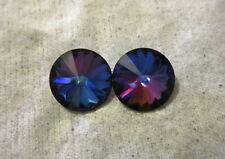 Heliotrope Crystal Hypoallergenic Stud Earrings-Handmade w/ 12mm Swarovski