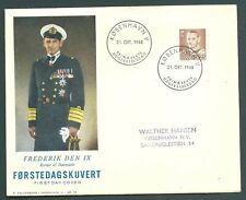 Denmark 1948 King Frederik illustrated First Day Cover