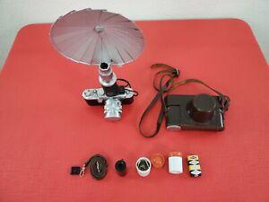Vintage Leica DRP 35mm Camera Ernst Leitz Wetzlar No 640904 Summarit Lens extras