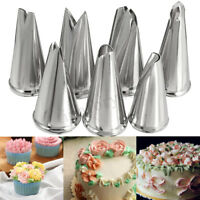 7pcs Stainless Steel Leaf Icing Piping Russian Nozzles Tips Cake Decor Tools