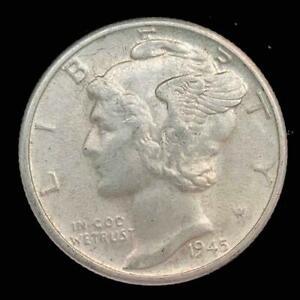 1945 D Silver MERCURY Dime 10C <>< SKU 0337