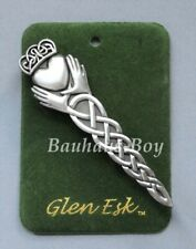 GlenEsk KILT PIN IRISH CLADDAGH ANTIQUE FINISH MADE IN THE UK SCOTTISH MENS WEAR