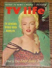 MARILYN MONROE AUTHENTIC ORIGINAL USA TV LIFE MAGAZINE JANUARY 1954