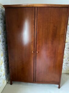 Matching Pair of Willis and Gambier Intent Collection Wide Two Door Wardrobes