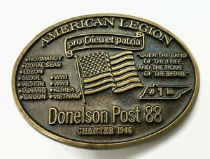 American Legion Donelson Post 88 Solid Bronze #59 of 500 Collectible Belt Buckle