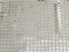 CLEARANCE  SALE SQUARE SILVER CONFETTI DOT SEQUIN FABRIC $4.50/YARD