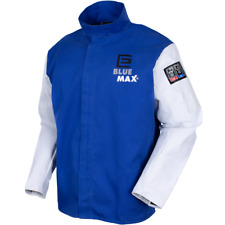 The Blue Max® Proban® Welders Jacket with Grain Leather Sleeves Size 4XL