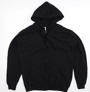 Fruit of the Loom Mens Black   Full Zip Hoodie Size M