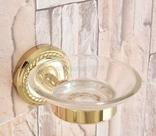 Gold Color Brass Bathroom Accessory Wall Mounted Soap Dish Holder