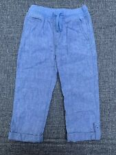 Gap Kids Boys Toddler Roll Up Pull On Pants Size 5 Blue