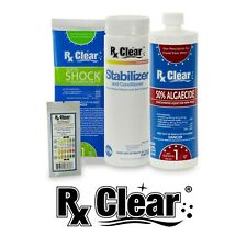 Rx Clear Swimming Pool Spring Start-Up Opening Chemical Kits - Choose Size