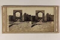 Italia Pompei Arc Foto Sommer Belhes Napoli Stereo Vintage Albumina c1865