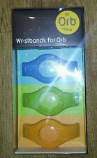 Fitbug Orb Secure Multi Wrist Strap Wristbands-Blue/Green/Orange (Pack of 3) NEW